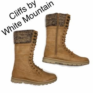 Cliffs by White Mountain mid calf boots knit cuff